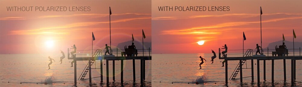 With & without polarized lenses