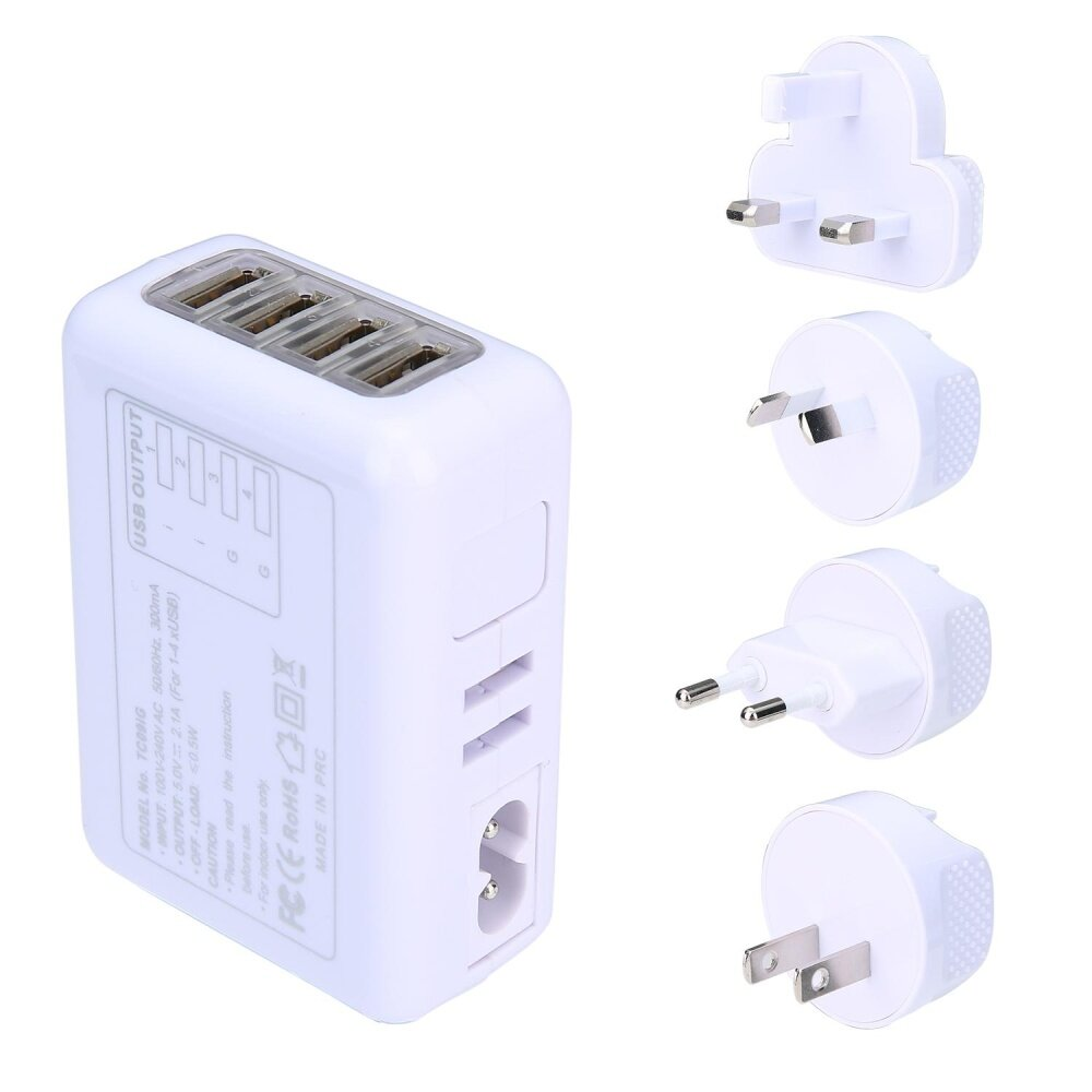 Product details of niceEshop 4 USB Ports AC Universal Travel Wall Adaptor Charger With 4 AC