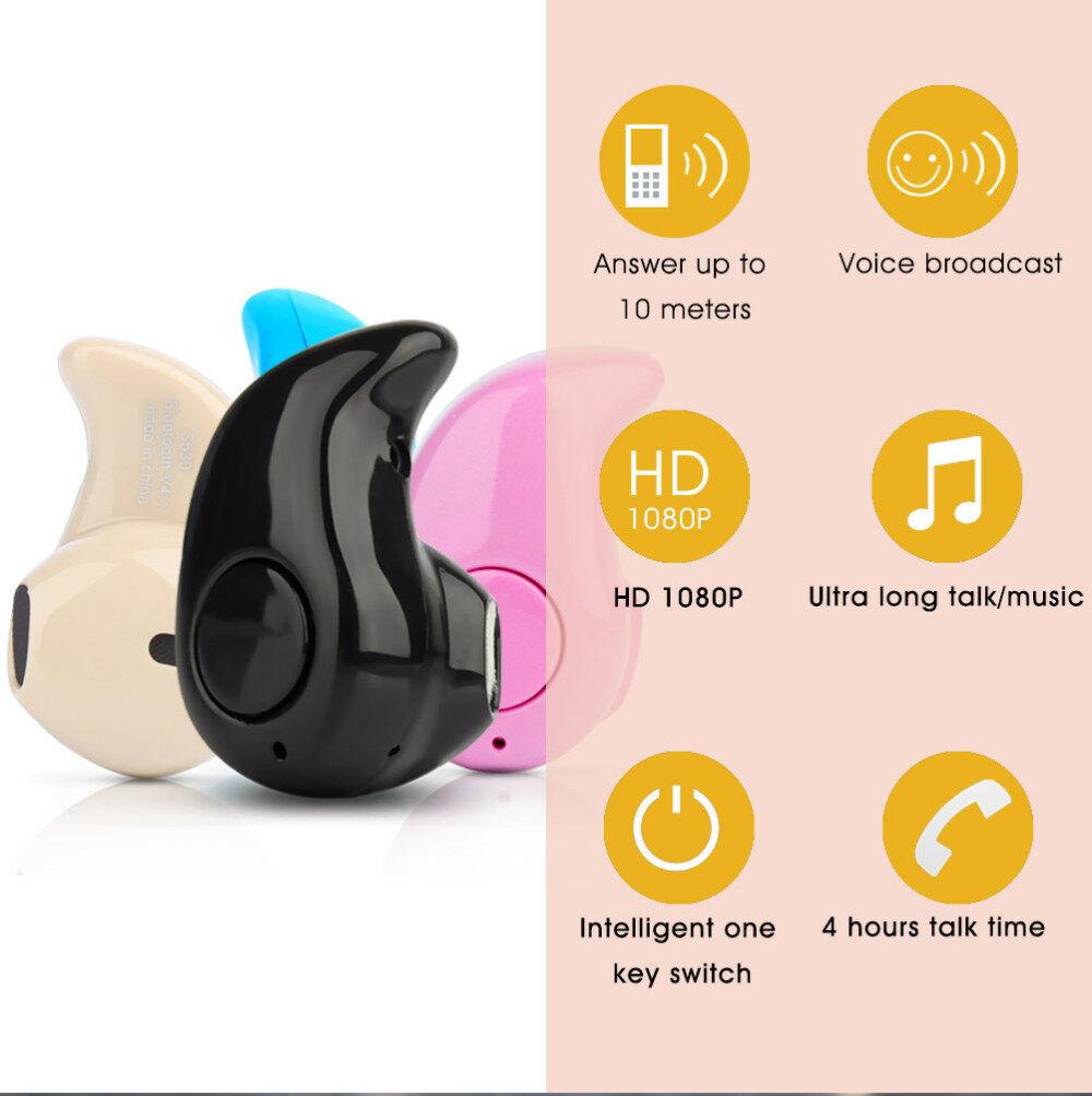 High Quality Mini Style Wireless Bluetooth Headphone In-ear. Earphone Phone Headset. image image image image
