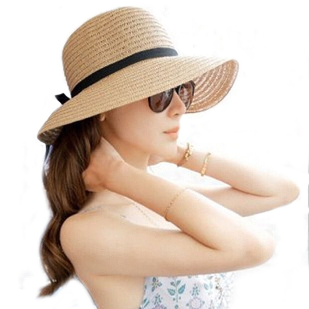 eb9e94a4526 Product details of Floppy Foldable Ladies Women Straw Beach Sun Summer Hat