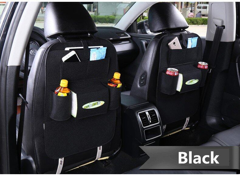 Car Multifunctional Storage Back Bag Dark Gray Image