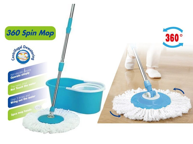 the spin mop with 2pcs mop heads comes with a mop head that is removable reusable and washable simply detach the mop head and throw it in the washing