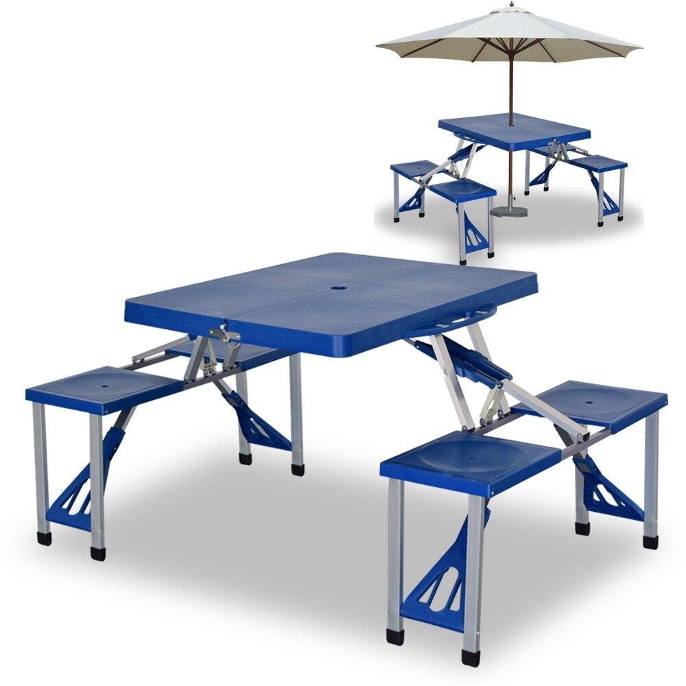 Cloud Portable Folding Table Blue