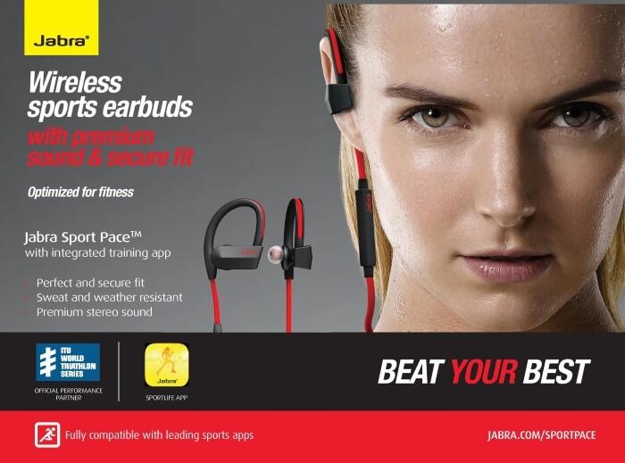 2 Units Jabra Sport Pace Wireless Bluetooth Stereo Headset Yellow