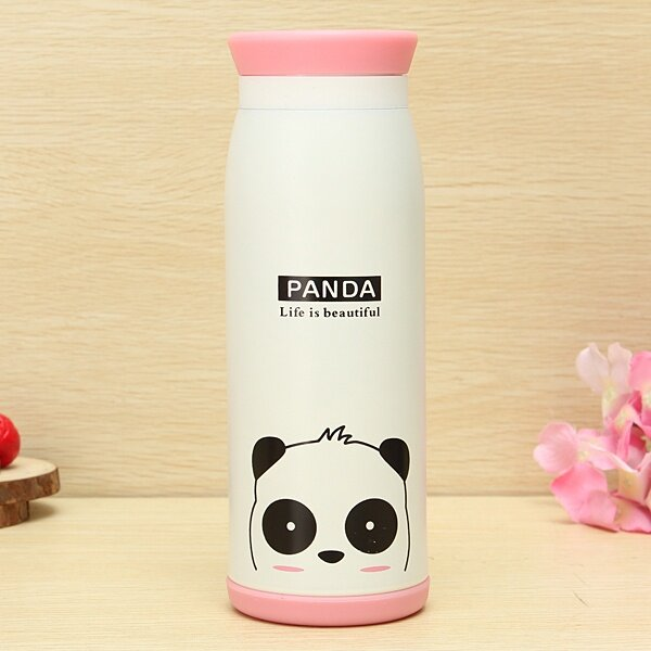 Cartoon Animal Vacuum Flask Thermos Tea Water Cup Bottle 500ML