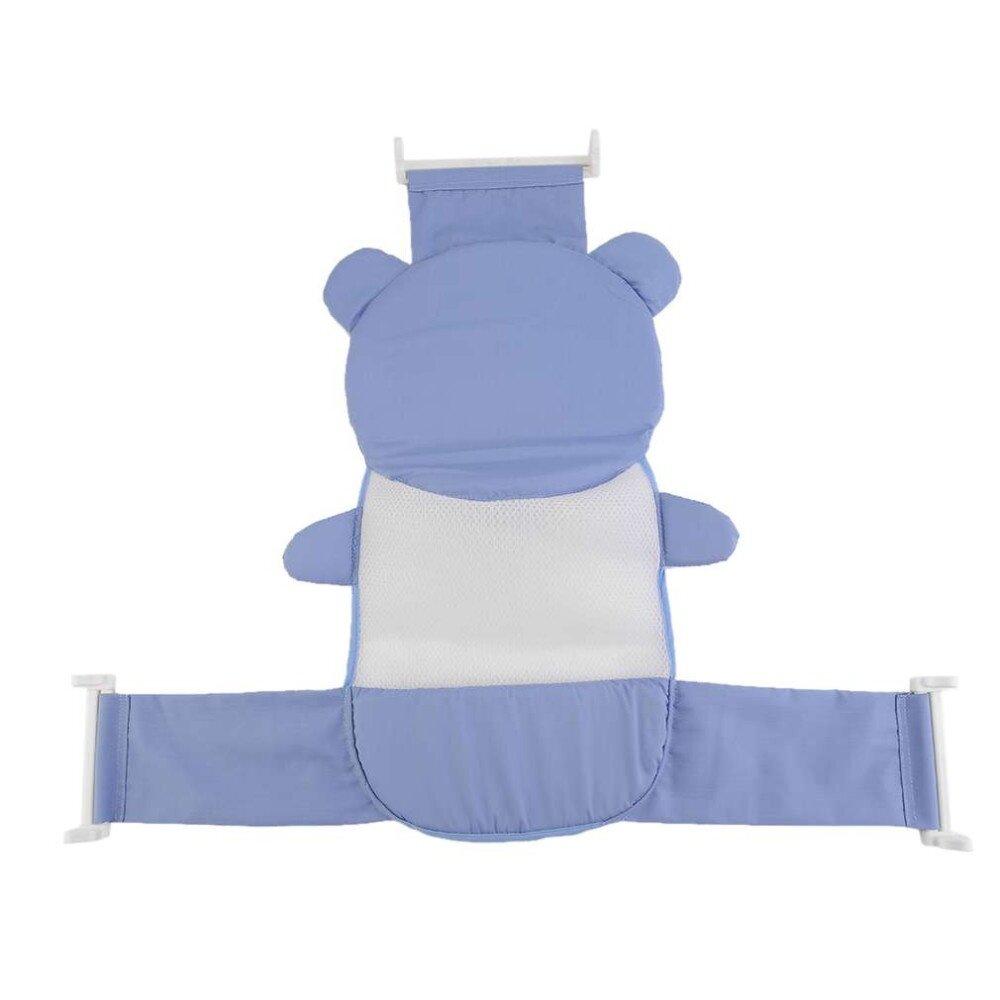 GTE Newly Baby Bathtub Net Cartoon Bear Infant Bath Tub Mesh Seat ...