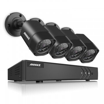 ANNKE 16CH 720P 1080P Lite HD TVI 4-in-1 Smart DVR DN61R - 960P IPC, Smart Search Playback, Email Alert, Remote Mobile Monitoring & H.264+ Video Compression