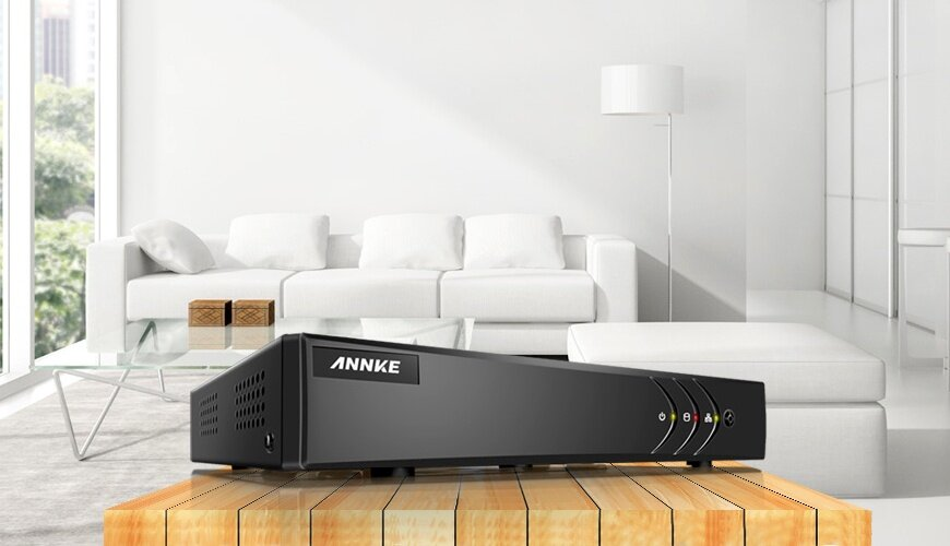 ANNKE 8CH 720P 1080P Lite HD TVI 4-in-1 Smart DVR DN81R - 960P IPC, Smart Search Playback, Email Alert, Remote Mobile Monitoring & H.264+ Video Compression