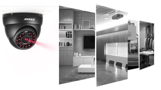 ANNKE 1MP 720P 4 Dome 4 Bullet CCTV Cameras 2TB Seagate SkyHawk HDD