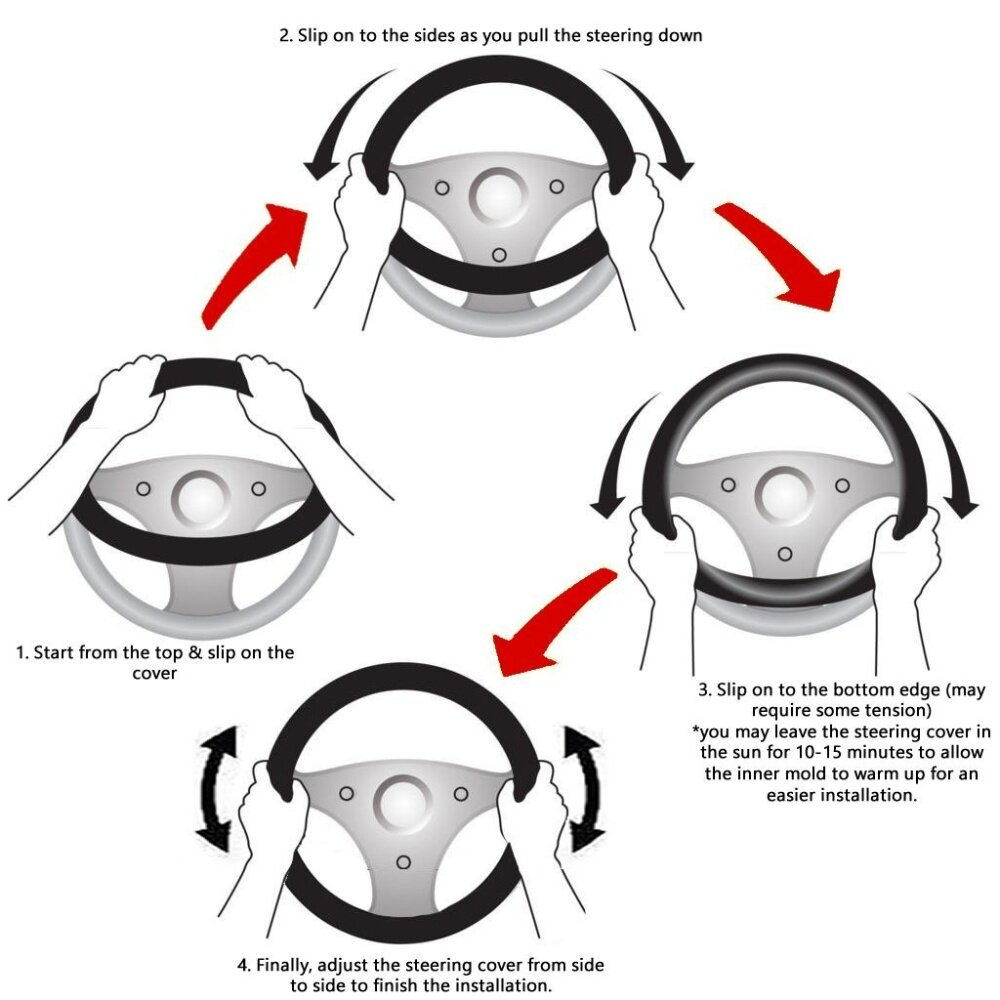 Image result for how to install steering cover