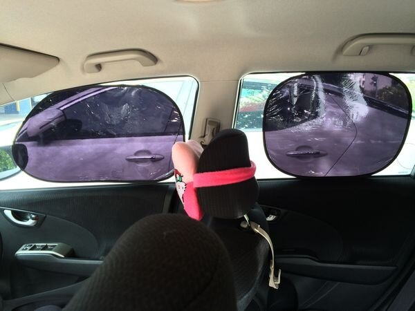 Car Static Electric 97% UV Proof Sun Shade 4 Pcs Made in Taiwan