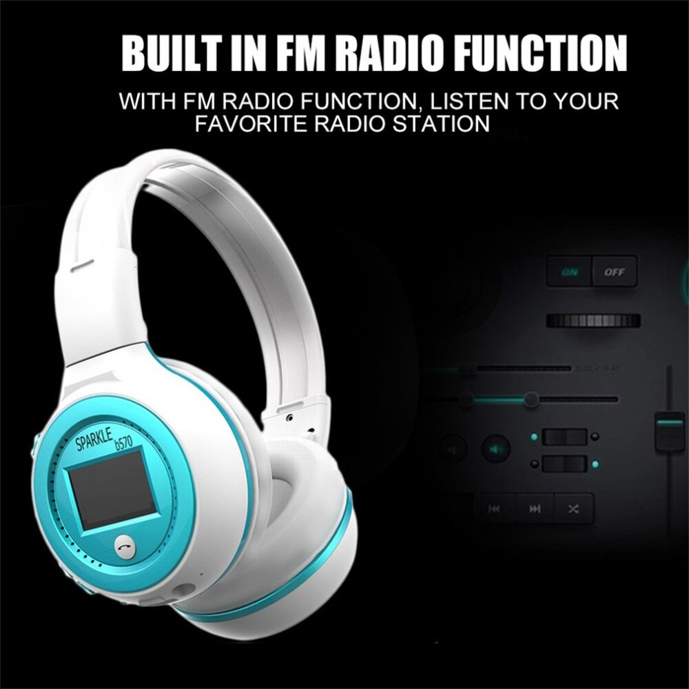 B570 Lcd Display Screen Foldable 35mm Wired Wireless Stereo Rexus Headset Headphone Bluetooth M1 With Micro Sd Slot Ekstra Bass Heavy Effect Listen More Claritywireless Enjoy Music Playing