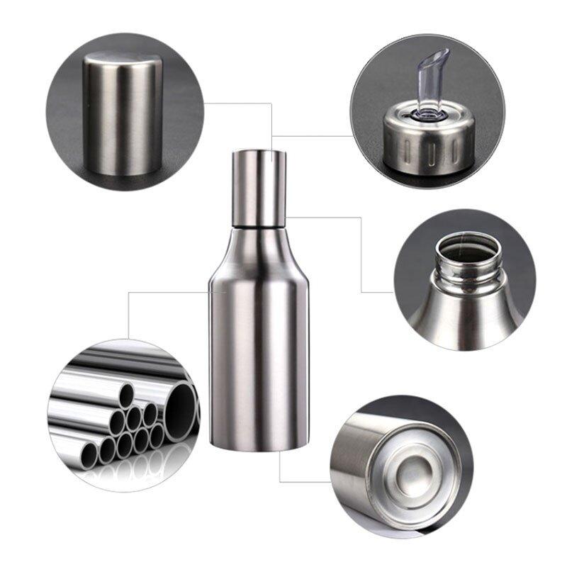 1000ml stainless steel olive oil dispenser for kitchen measure cooking oil bottle lazada. Black Bedroom Furniture Sets. Home Design Ideas