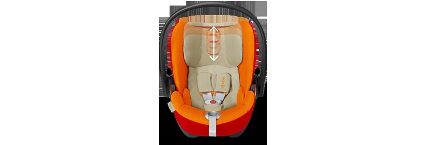 11-position height-adjustable headrest - For perfect protection that grows with the child