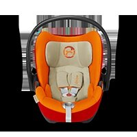 Energy-absorbing shell - Absorbs the forces of an impact and protectively covers the baby