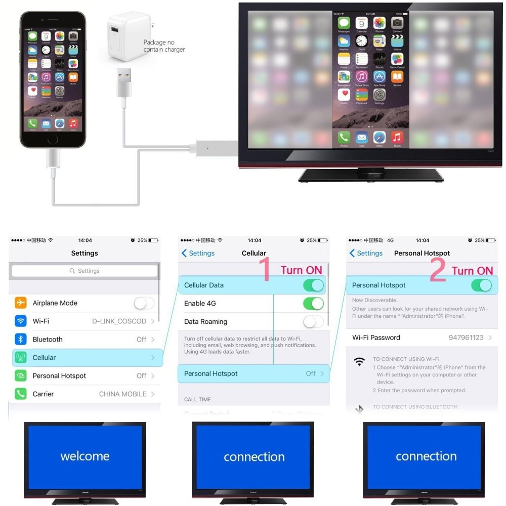 how to connect my iphone 5 to my tv
