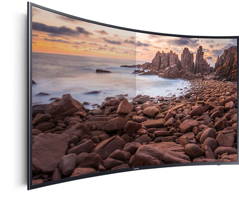 A half of screen is conventional and half is an uhd 4k screen.