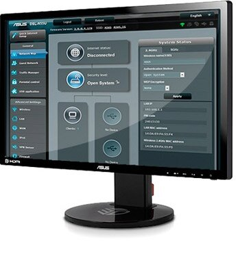 ASUSWRT graphical user interface gives you easy, CD-free setup and advanced network control