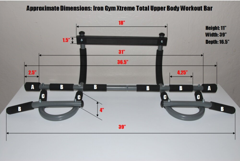 Iron Gym Pull Up Bar Chin Up Bar Extremme Lazada