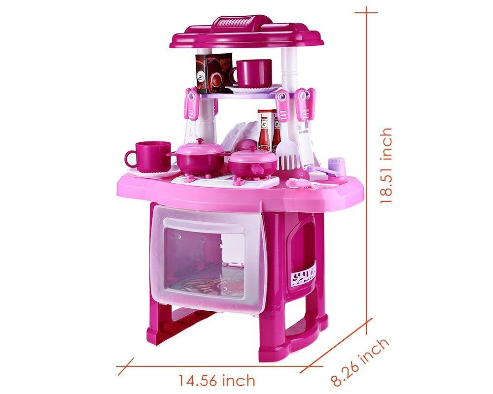 Kids kitchen cooking toy set for role play pink lazada for Kitchen set lazada