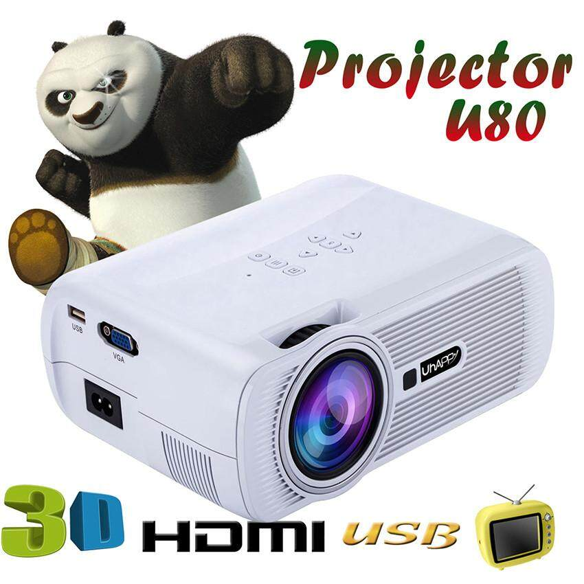 Niceeshop 1000 lumens lcd led mini projector 1080p hd home for What s the best pocket projector