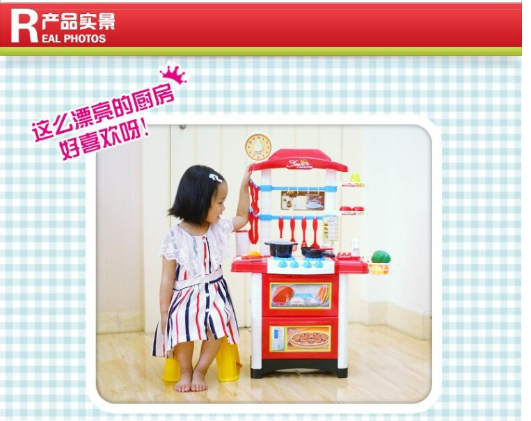 Big size 87cm kids kitchen play set pink lazada malaysia for Kitchen set for 3 year old