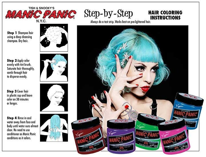 Manic Panic Cotton Candy Pink Semi Permanent Hair Color Cream