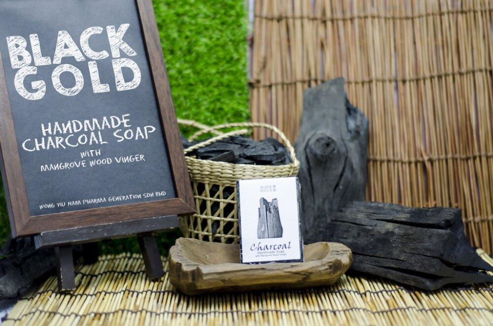 BLACK GOLD Charcoal Handmade Soap