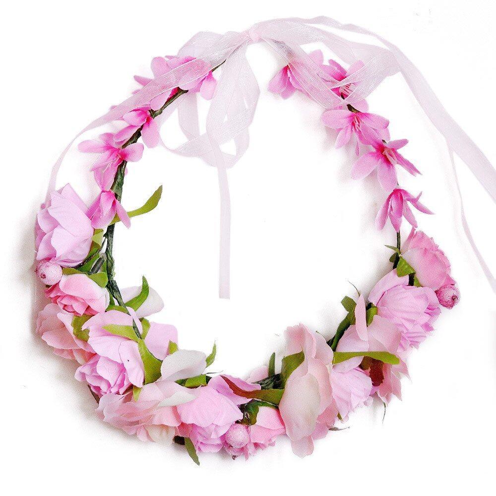 Boho flower crown headband wedding bridal floral cream lazada photo hs001508g izmirmasajfo Image collections