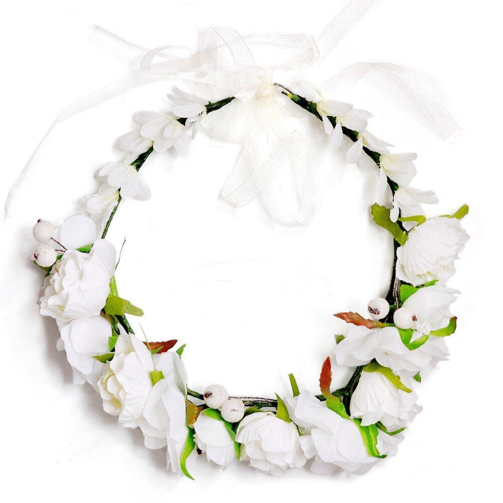 Boho flower crown headband wedding bridal floral cream lazada photo hs001501g photo hs001502g izmirmasajfo Image collections