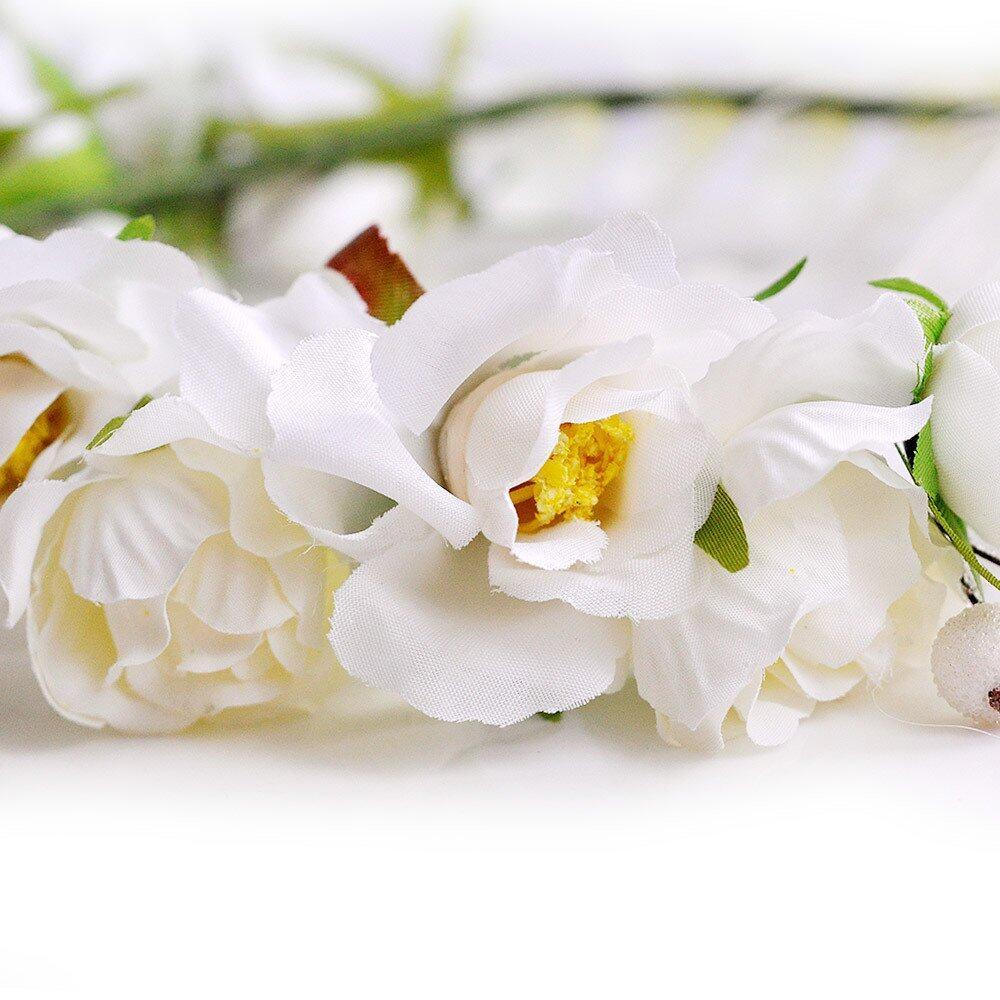 Boho flower crown headband wedding bridal floral cream lazada product details of boho flower crown headband wedding bridal floral cream izmirmasajfo Image collections