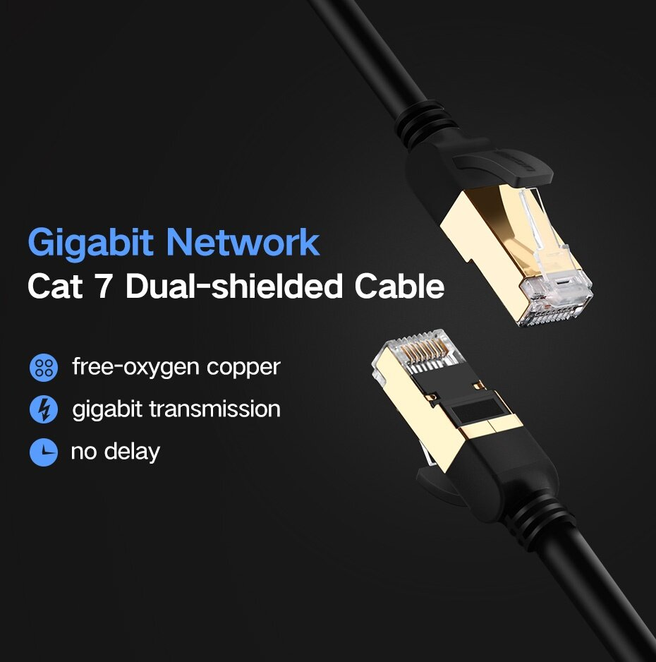 Buy Ugreen 5 Meter Ethernet Cable Cat7 10 Gigabit, RJ45 Network ...