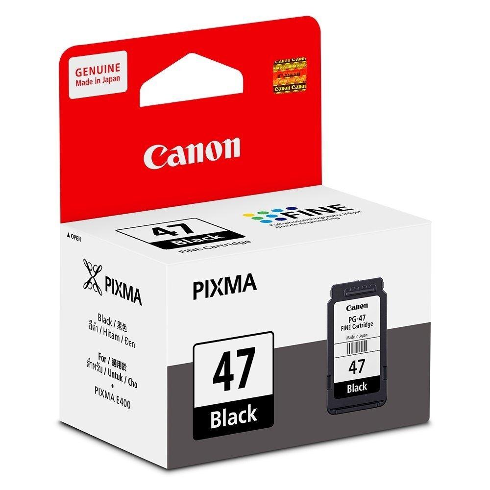 Canon Pg 47 Black Fine Cartridge 15ml 2pcs E400 E410 E460 E470 Epson Ink Yellow C13t03y400 For L6170 Image