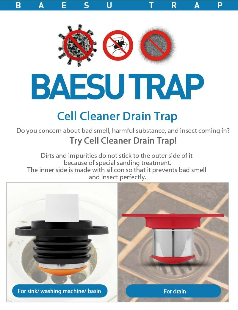Cell Cleaner Bathroom Floor Drain Protector Preventing Bad ...