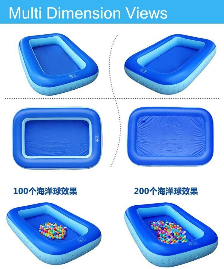 Shuidi 1 6 Meter Large Inflatable Swimming Pools With Consumption 145 Liters Water 1 Layer