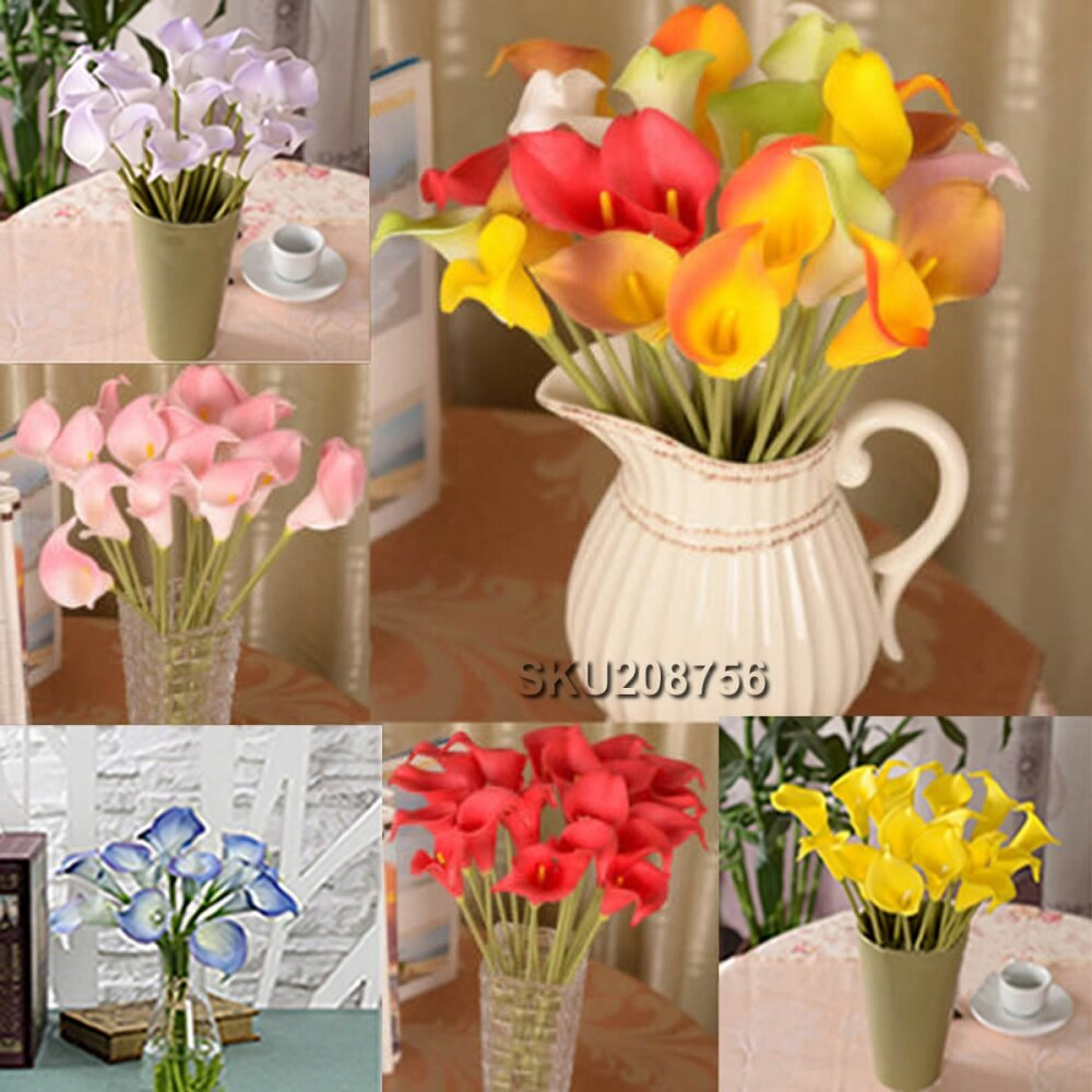 Nigeria Buy Universal 10pcs Artificial Calla Lily Fake Silk