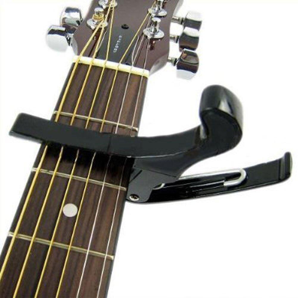 Leegoal Single,handed Guitar Capo Quick Change,Gold (Intl
