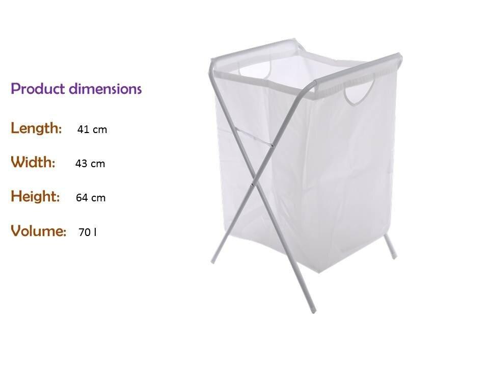 Ikea j ll laundry bag with stand white lazada malaysia for Ikea luggage cart