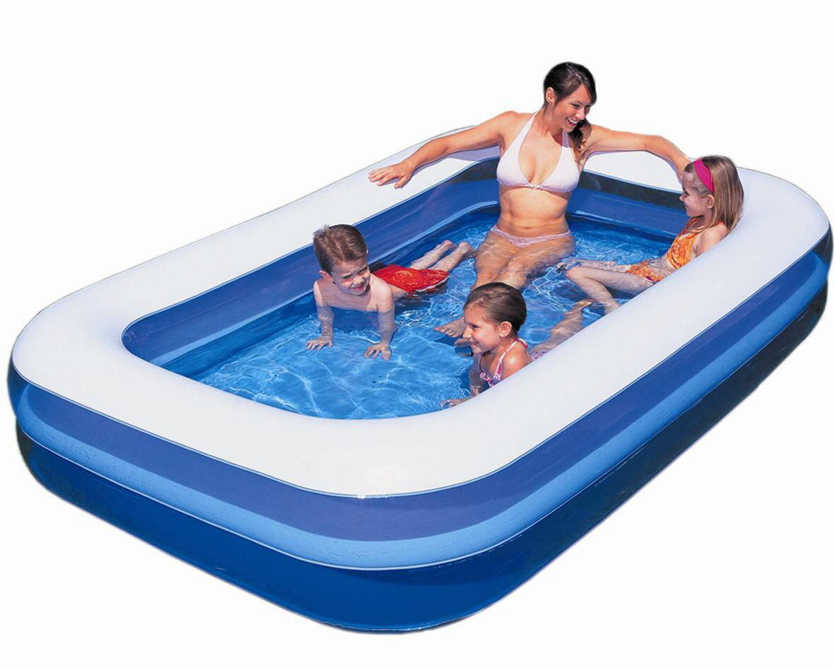 Bestway 54006 family swimming pool blue lazada malaysia for Paddling pool heater