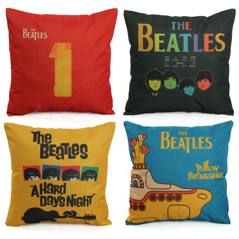 ... The Beatles Rock Classic Song Pillow Case Cotton Linen Cushion Source Comfortable and soft it will
