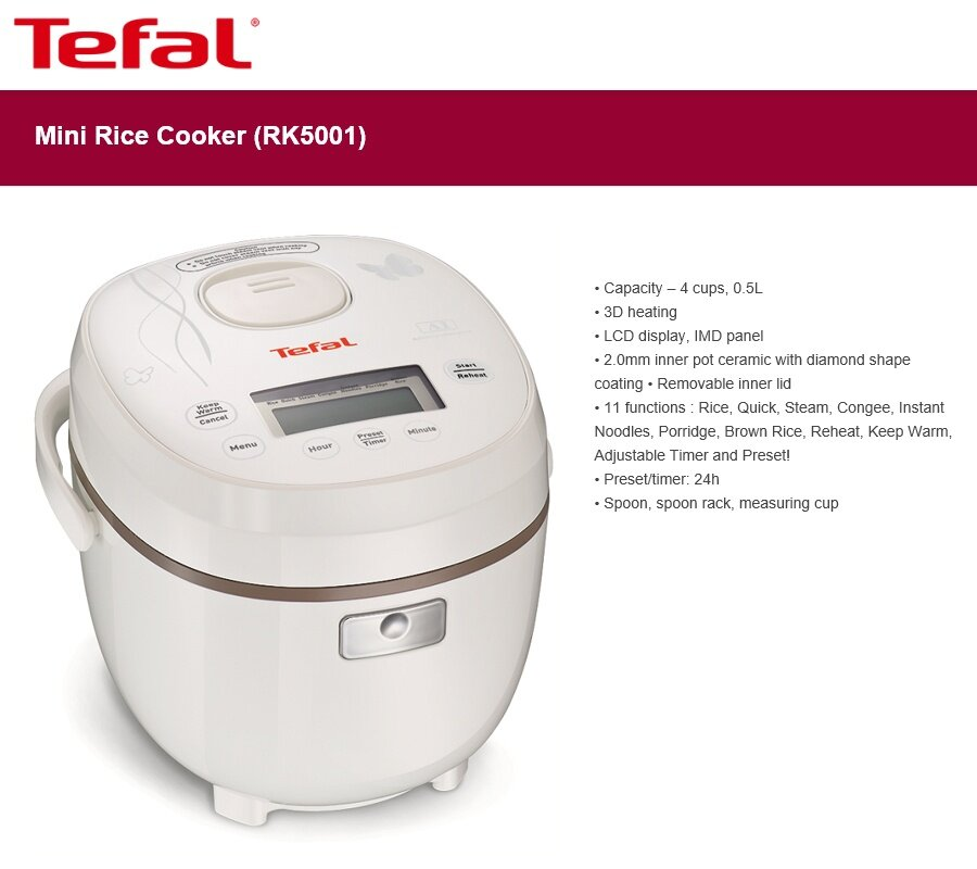 tefal 3 in 1 rice cooker instructions