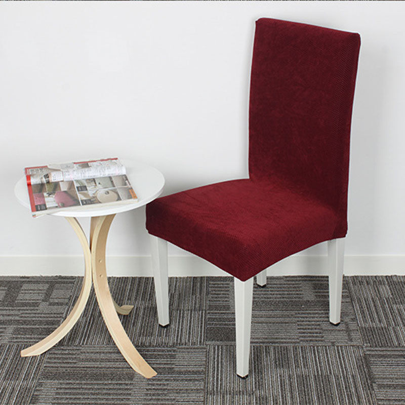 Product Details Of 2PCS Dining Room Decoration Chair Cover Stretch Slipcover Protector Red