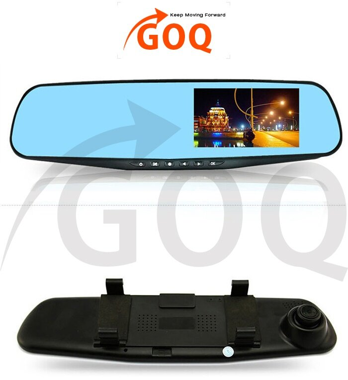 goq d208 car rearview dual camera dvr dash cam 1080p fhd 4. Black Bedroom Furniture Sets. Home Design Ideas