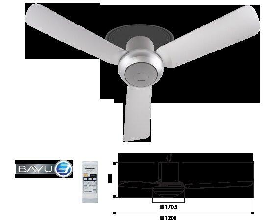 Panasonic Bayu 3 Ceiling Fan 3 Blades Baby Fan F M12d2