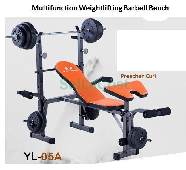 Lazada Dumbbell Set: SellinCost Foldable Sit Up Dumbbell Bench Press Chair With
