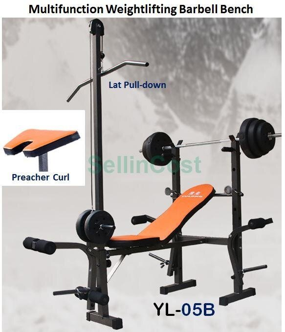 Bench Presses Vs Lat Pull Downs: SellinCost Foldable Sit Up Dumbbell Bench Press Chair With