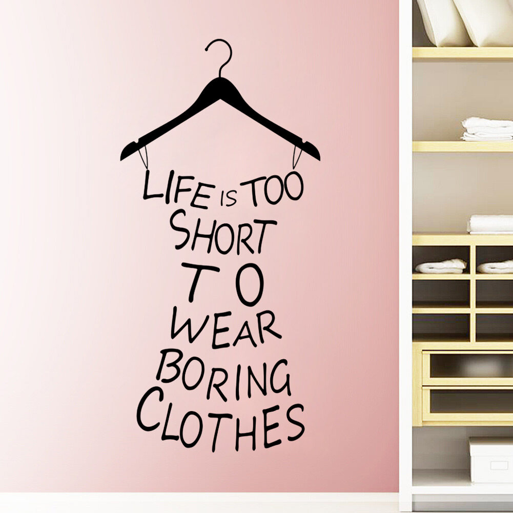 new black life is short quote wall sticker pvc mural room decor a beautiful art wall decal for your home or office and make your room a refreshing look create an enchanting atmosphere ideal for dry clean