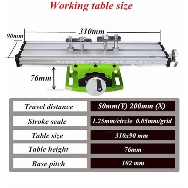 Small precision vise bench drill milling machine table for Html table border width
