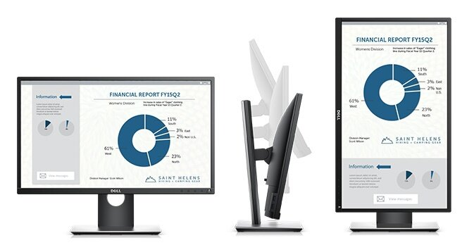 Dell P2317H Monitor - Purposefully designed for comfort and convenience