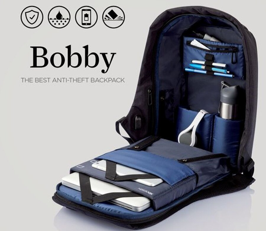 XD Design Bobby Anti Theft Backpack - Dark Blue Lazada ...